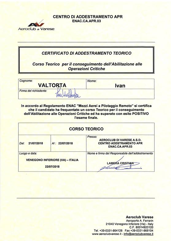 Certificato teorico
